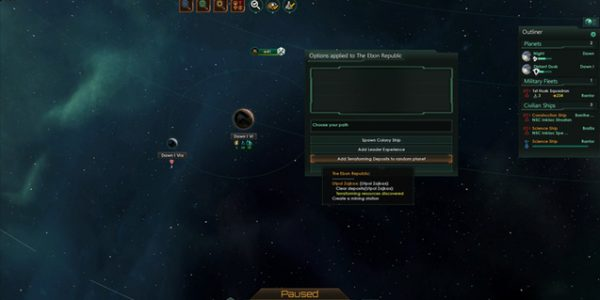 Slvrbuu's Stellaris Cheat Menu